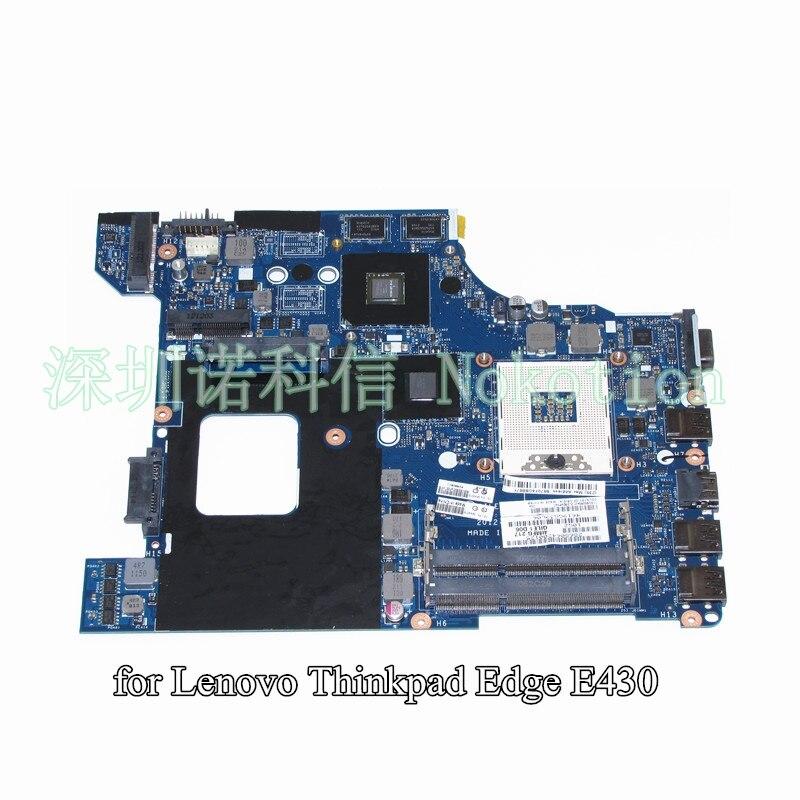 NOKOTION QILE1 LA-8131P FRU 04W4019 For lenovo Thinkpad Edge E430 laptop motherboard 14 inch HD4000+GT610M nokotion fru 04y1167 qile1 la 8131p for lenovo thinkpad edge e430 laptop motherboard hm77 hd4000 ddr3 systems board