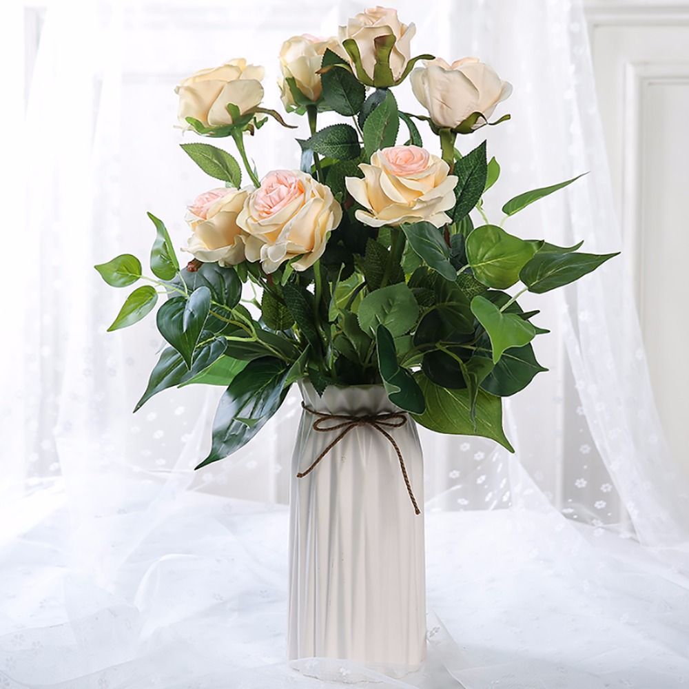 Luyue artificial rose flowers wedding party or birthday gift luyue artificial rose flowers wedding party or birthday gift simulation fake silk cloth flower bride bouquet rose home wedding in artificial dried flowers izmirmasajfo