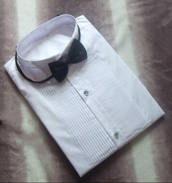 Classic Fit Cotton Shirts  Custom Made Any Colors Men Wedding Groom  Front Pleats Bridegroom Shirt For Men CS10