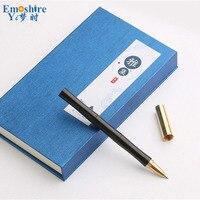 Unique Design New Stationery Creative Ballpoint Pen Wood Brass Rollerball Pen For Writing Ballpoint Pen Hot
