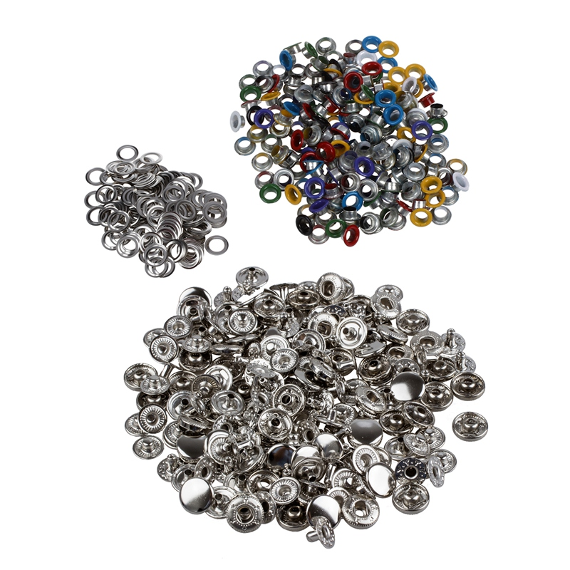 Beste 200 Pcs Metall Bunte Runde Ösen/nieten Mischfarben Außerhalb Durchmesser 9 Mm & 50 Set Metall Keine Nähen Druckknöpfen Butt