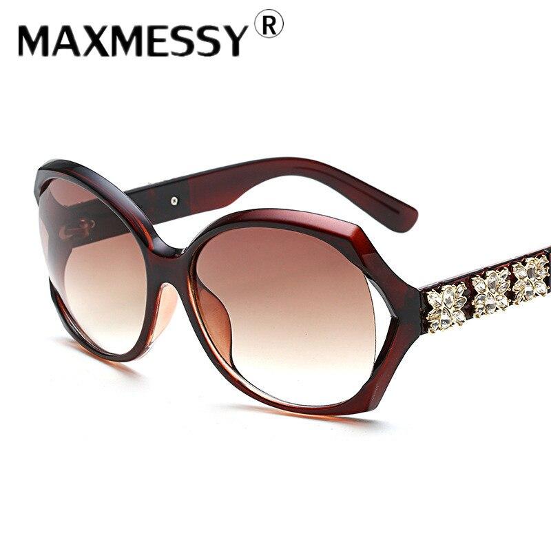 MAXMESSY New Women s Glasses Diamond Sunglasses For Driving Anti UV Sunglasses Female Sun Glasses font