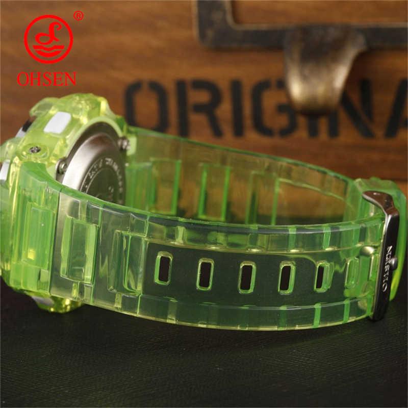 OHSEN Дети часы детей цифровой светодиодный Мода Спортивные часы Симпатичные мальчиков наручные часы для девушек Водонепроницаемый Подарок Часы Будильник дети часы