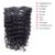 Grampo Em Extensões de Cabelo Humano Profundo Curly Clipe Ins 100 g/set Profundo Clipe onda Em Extensões Do Cabelo Brasileiros Grampo de Cabelo Ins Navio Livre