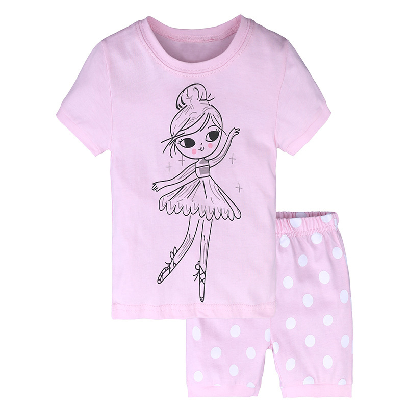 2018 Summer Toddler Girls Clothing Set Baby Clothes Top T-shirt+ Shorts Kids Clothes Sport Suit For Girls Children 2 4 6 7 Years