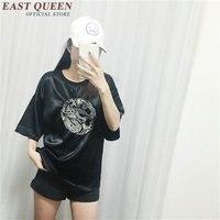 Yeni 2016 Sporting Tshirt Moda kadın mektup baskılı tasarım gençlik kadın Gevşek Zarif Rahat T Shirt AA1053X Tops