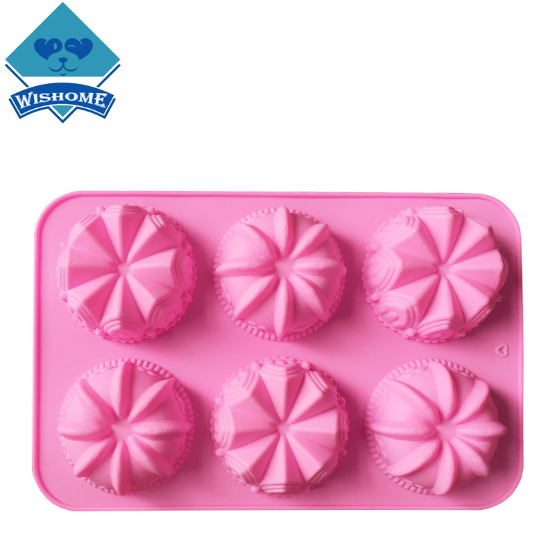 Wishome 2pcs Crown Castle Silicone Chocolate Mold Birthday