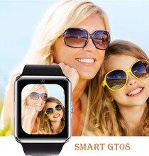Smart watch gt08 uhr sync notifier unterstützung sim-karte bluetooth konnektivität für apple iphone android telefon smartwatch