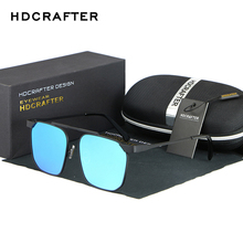 HANDCRAFTER Brand Design Sunglasses Men Polarized UV400 Eyes Protect Big Box Color Film Man Sun Glasses