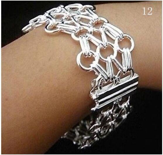 Brand women jewelry chain & links bracelet silver bracelets for men best friends ship Wholesale prata bracelet
