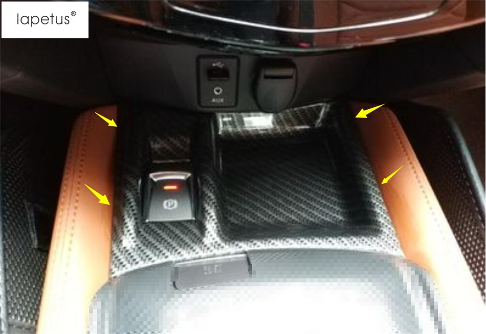 Lapetus Accessories For Nissan X-Trail X Trail T32 Rogue 2017 2018 Electric Hand Parking Brake Button / Storage Box Cover Trim