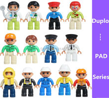 2016 new arrival original duplo PAD  series farmer miner captain assembly Toy toys minifigure gift for kids