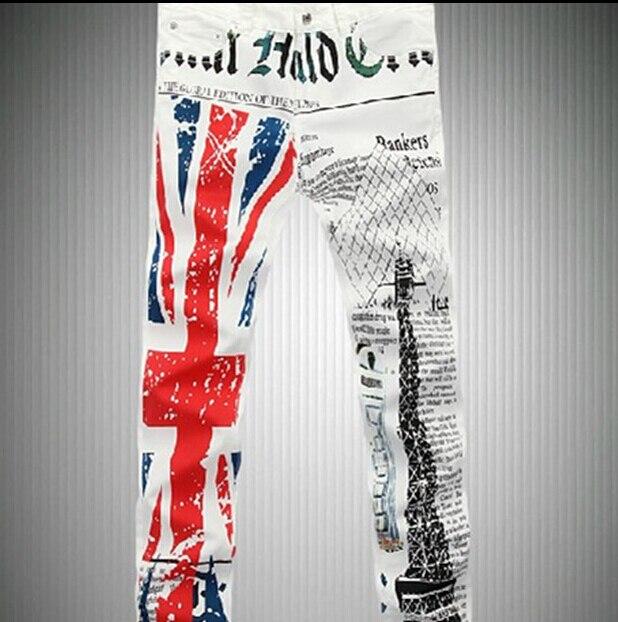 Hombres del reino unido ee.uu. bandera británica pantalones vaqueros ...
