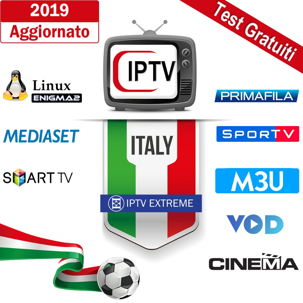 US $23 99 |2019 Upgraded M3U IPTV Italia Subscription No Freeze Enigma2  Premium Mediaset Sport Live Stream UK Spain French German-in Set-top Boxes