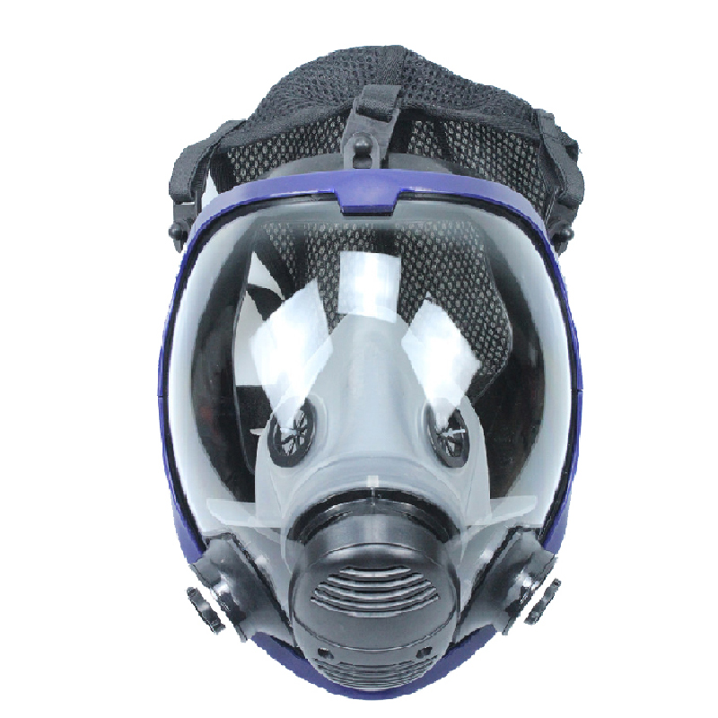 Marque masque à gaz masque chimique visage complet peinture acide poussière respirateur Spray Silicone filtre toxique Air travail masque de sécurité industriel