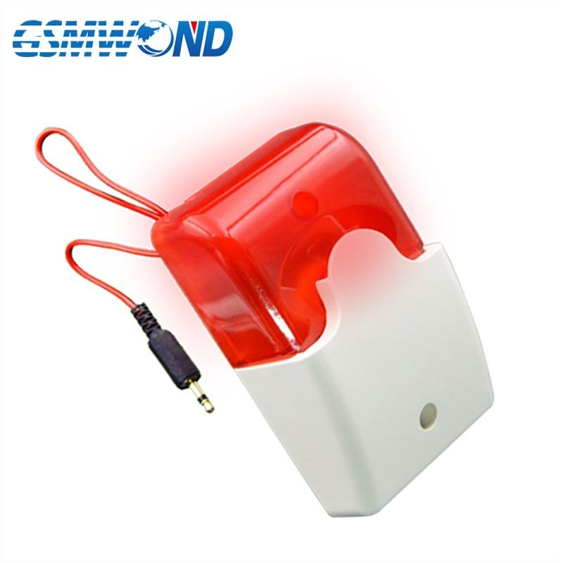 Wired Strobe Siren Work At DC 12V, For GSM / PSTN / Wifi / Home Burglar Alarm System, LED Police Strobe Siren
