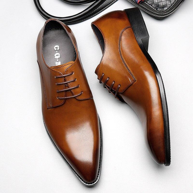 Мужская обувь из натуральной кожи в деловом стиле, обувь Frenulum Cusp Breathe в британском стиле, деловая Мужская обувь из воловьей кожи для свадебно...