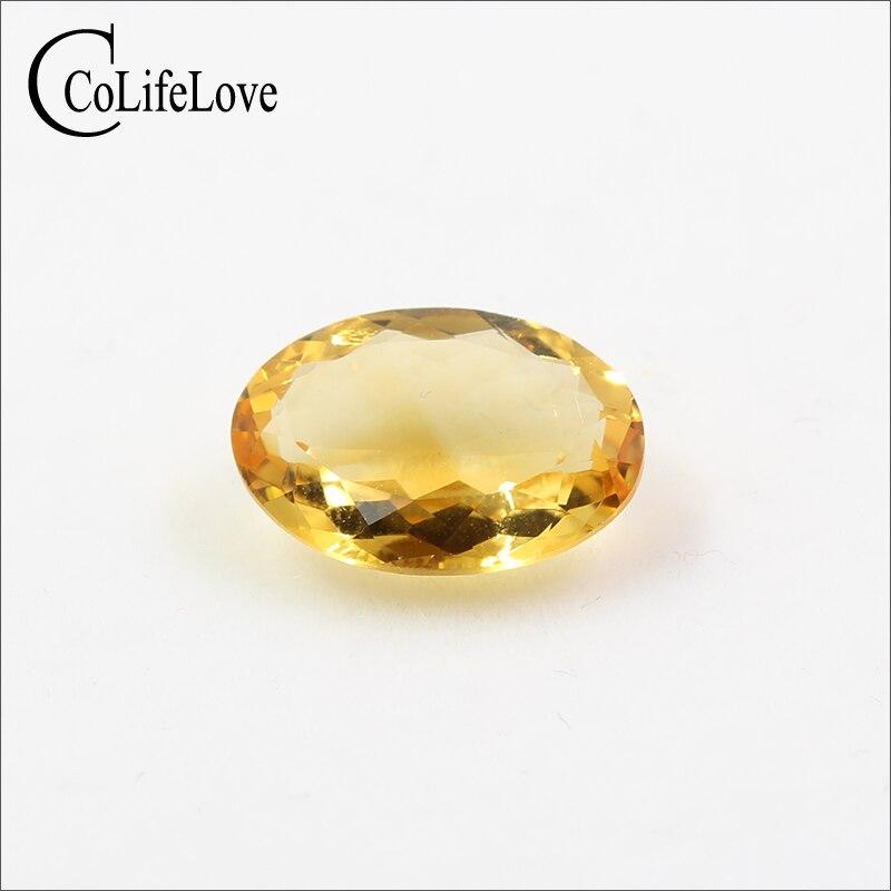 10mm * 14mm naturel citrine lâche bijoux de pierres précieuses bricolage véritable citirne pierre précieuse