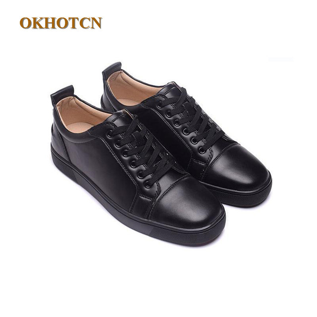 Fashion Solid Black Casual Sneakers Luxury Simple Designer Low Top