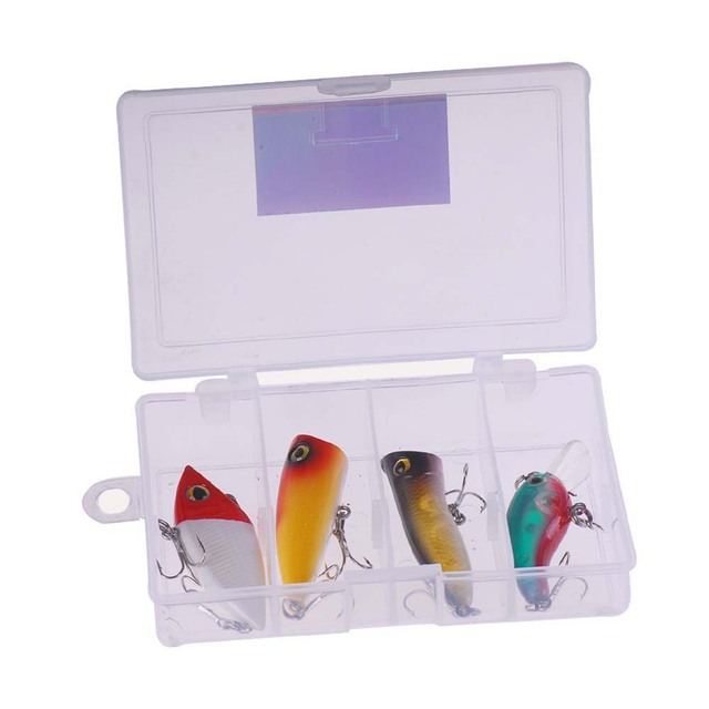 4c4ef189357 Free Shipping Promotion! 4pcs set Artificial Hard plastic VIB Popper Crank  Pesca Cheap Fishing lure Combo china set leurre peche