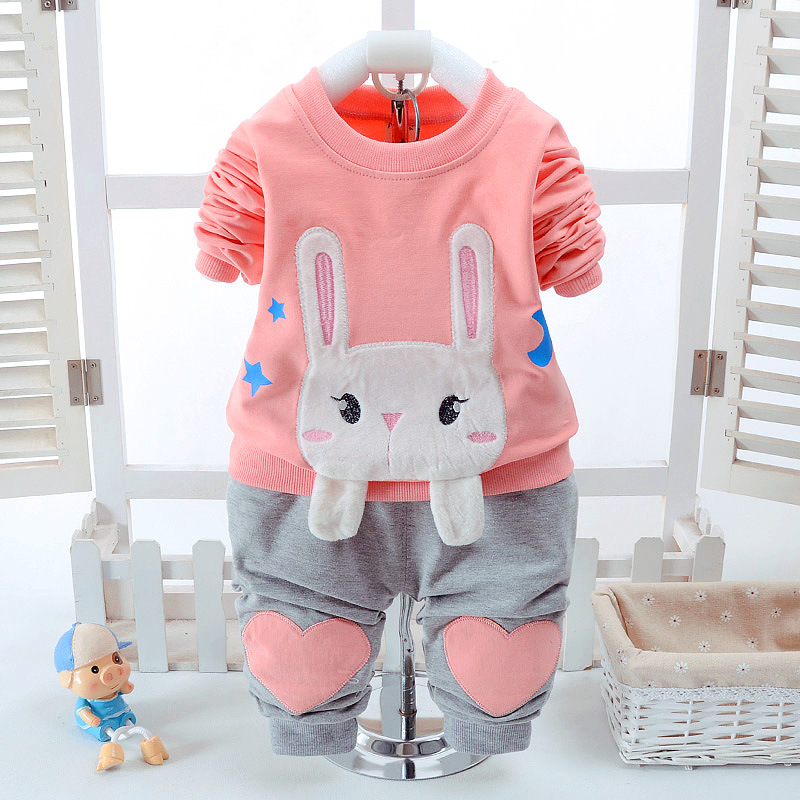 CHCDMP New Children Clothing Sets High Quality Fashion Boys Girls Cotton T shirts+Pants suits Kids Baby Cartoon Bear Clothes Set cotton cartoon t shirts