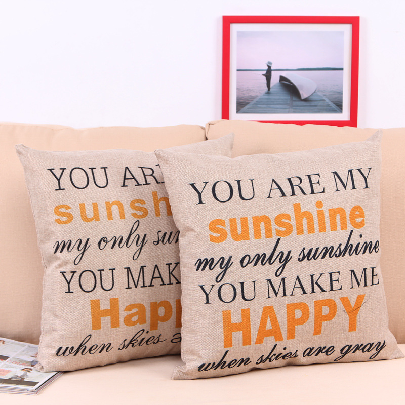 4040 Cm Monogrammed Initial Letters You're My Sunshine Decorative Fascinating You Are My Sunshine Decorative Pillow
