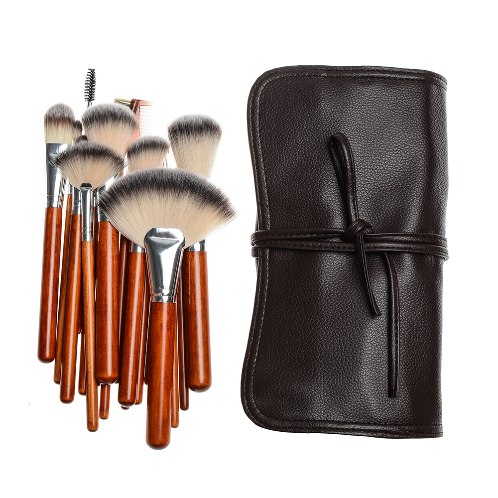 Synthetic Hair New 18 pcs High Quality Makeup Brush Set Face Beauty Soft Makeup Brushes Tools
