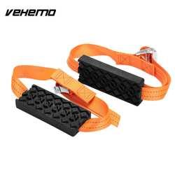 Vehemo 2 шт. резиновая нейлон снег ремешок-цепочка аварийного пояса автомобильной зимние уличные салон автомобиля шины цепи
