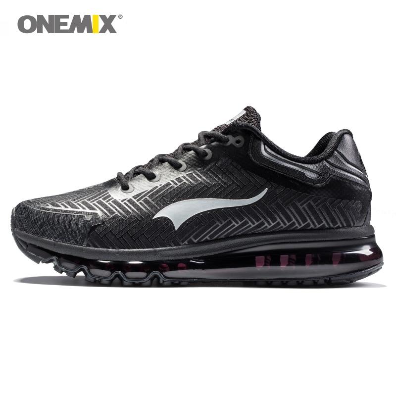 Onemix hommes chaussures de course de jogging léger chaussures de marche en plein air chaussures bon sport sneakers noir adulte athletic trekking sneakers
