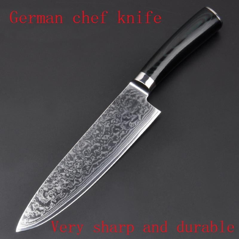 High quality 8 inch Utility Chef font b Knives b font Imitation Damascus steel Santoku kitchen