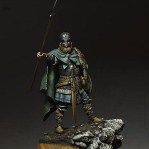Image 1 - 1/24, Viking Spearman Resin kit Figure GK Historical and humanistic themes Ancient war Uncoated No colour