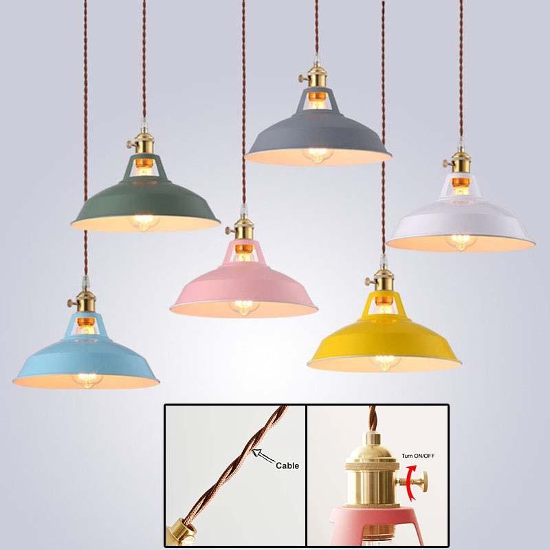 Iron Nordic Pendant Light White Kitchen