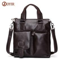 Joyir Men Genuine Leather Briefcase Style Handbags Men Office Bags For Men Shoulder Laptop Bags Business Man Briefcase Bag B259B
