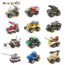 Building Blocks Mini Size City Car Series Figures Bricks Model Educational Toys For Children Birthday Gift