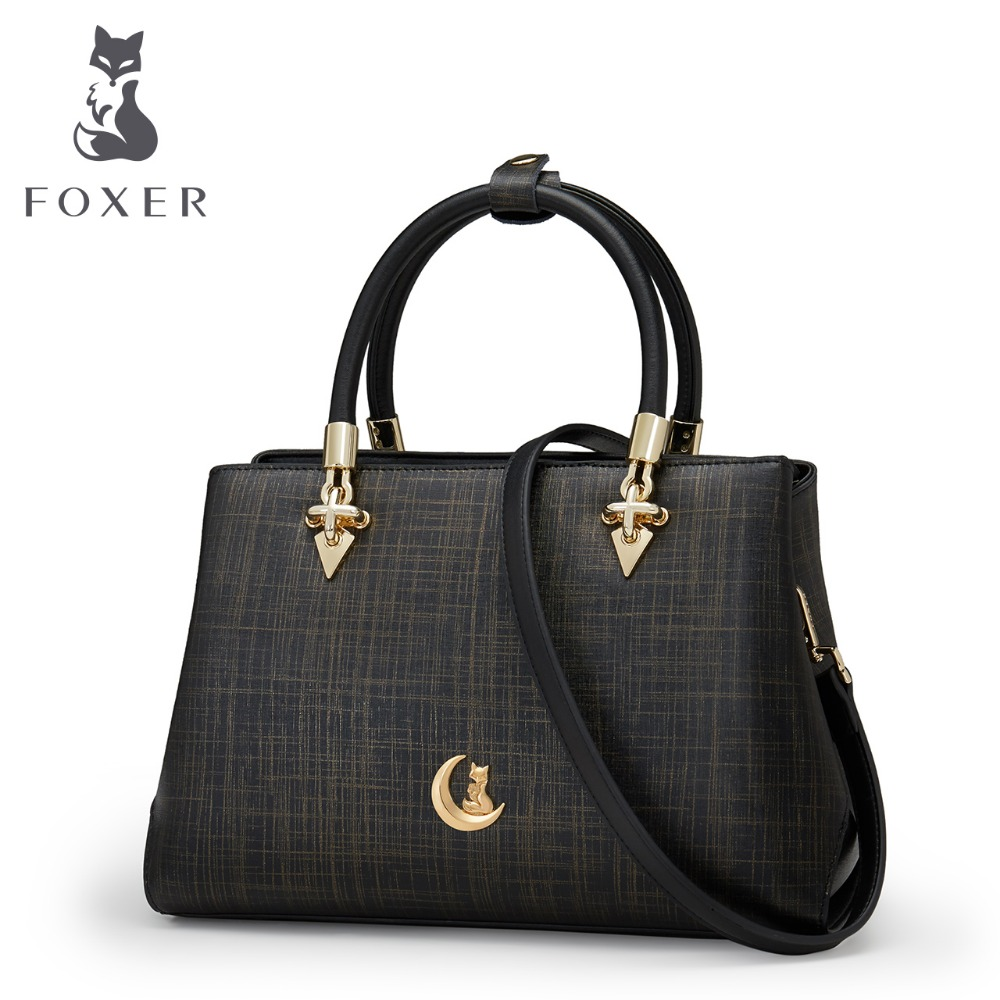 Foxer Brand New Fashion Girls Handbags Women Cowhide Leather Shoulder Bag Crossbody Bag Messenger Bag for Women 958129F1 foxer brand 2018 women leather crossbody bag