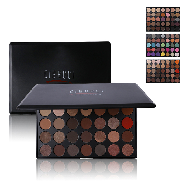Professional 35 Full Colors Nude Smoky Eyeshadow Palette Makeup 6 Different Color Eye Shadow Matte Shimmer Make Up Cosmetics Set