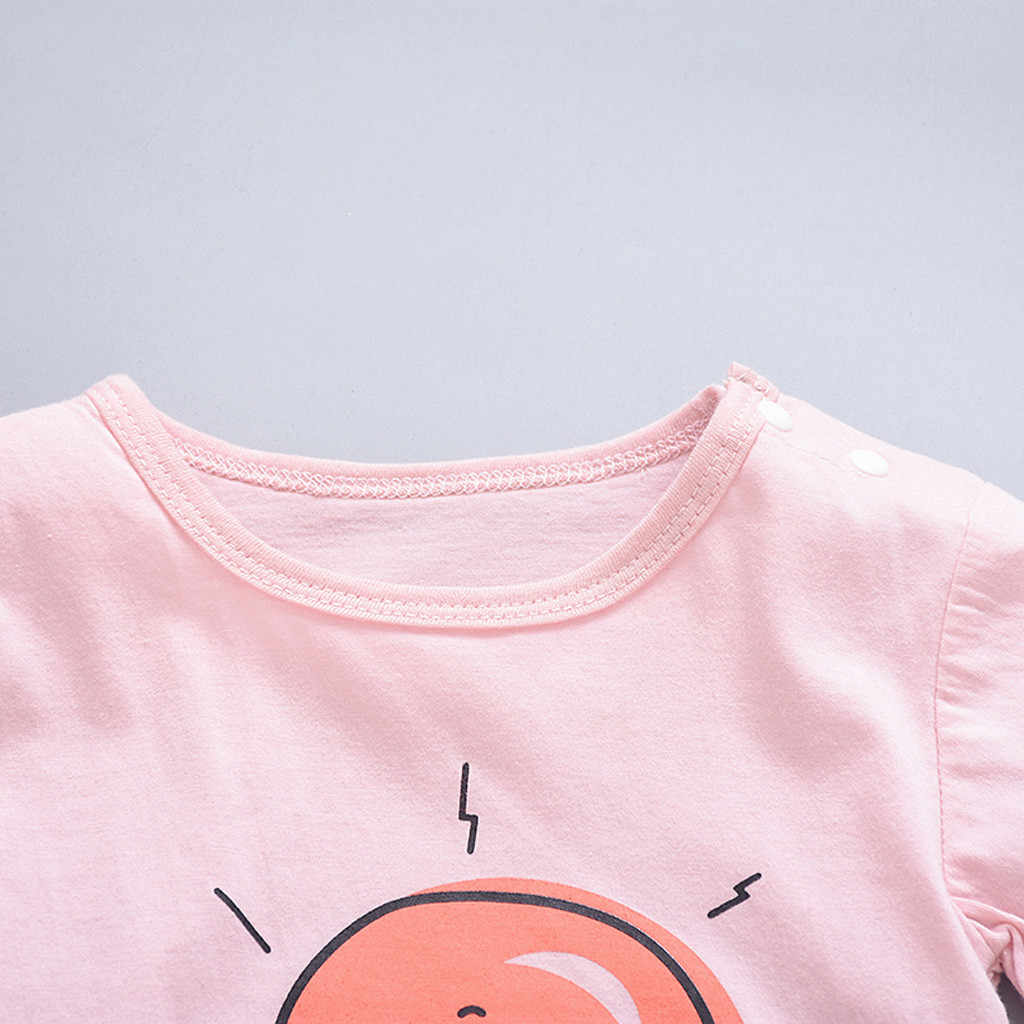 תינוק בגדים קצר שרוול Romper ילד תלבושות גאות קיץ סרבל יילוד שנת ילדה שמלת תינוק כוכב ירח שמש ענן rompers