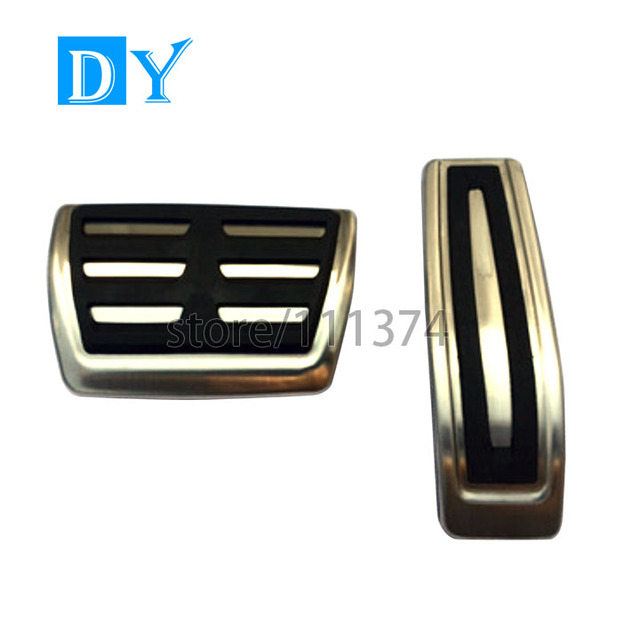 Free Punch Stainless Steel Gas Fuel Pedals Brake Pedal Automatic For Audi Q7 For VW Touareg For Cayenne Fit For LHD