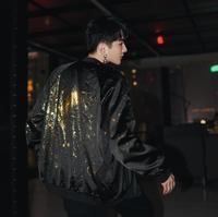2019 Men's Hot stamping baseball uniform jacket Coat Slim Fit Leather Jackets Fashion Casual Outwear for Man Jacket