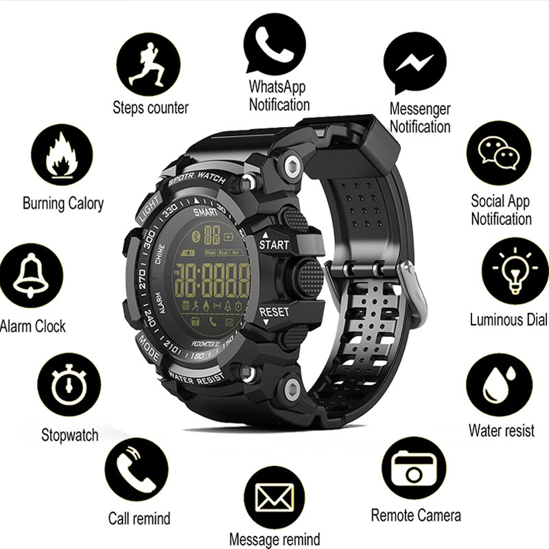 Message Reminder Smart Watch Men Social Share Smart Bracelet Remote Camera Fitness Tracker for Android IOS Man Digital Watches social share sport stopwatch color display smart watch men remote camera relogio smart for android ios men wrist watches