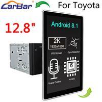 Carbar 12.8 Tesla Style Rotation IPS Screen Android 8.1 Car DVD GPS Radio Player for Old Toyota Camry Corolla RAV4 Prado Vios