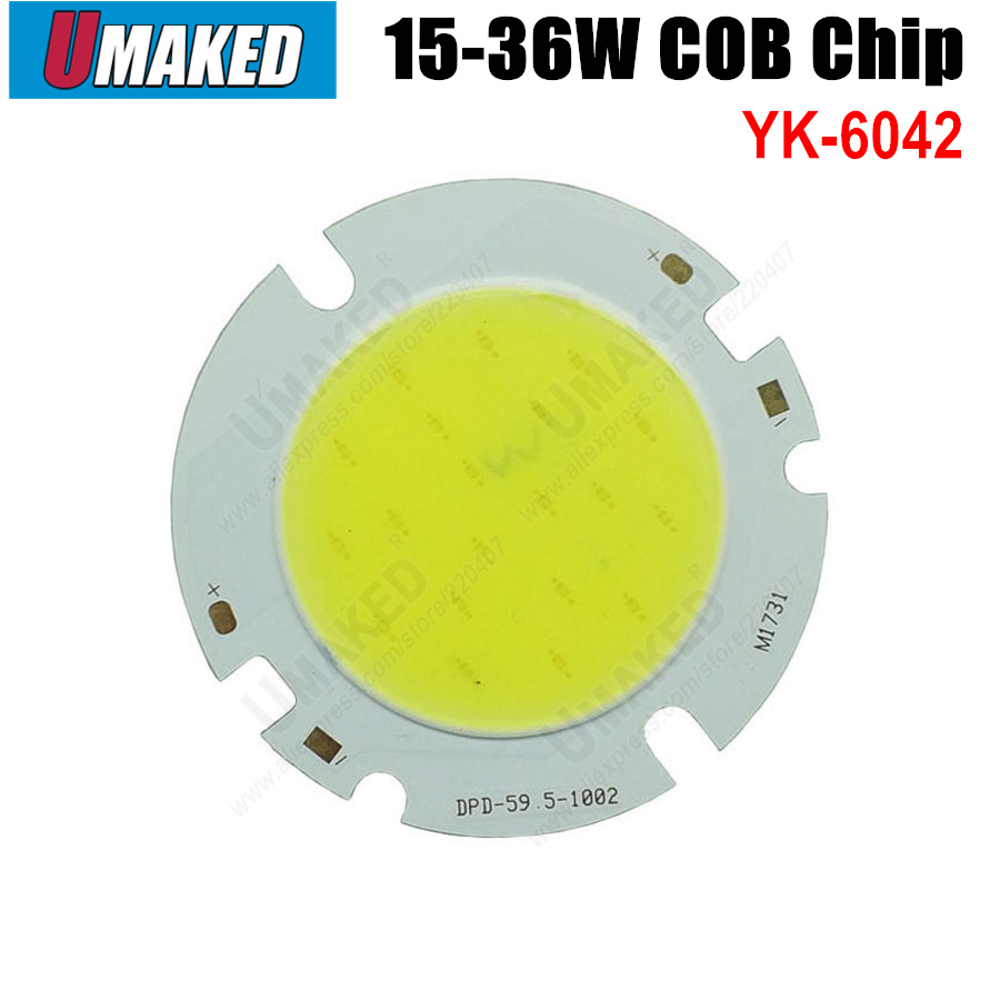 15W 18W 20W 24W 30W 36W COB Beads 60mm Led Chip Diodes Surface Light For Led Bulb Spotlight Street Led Lamp