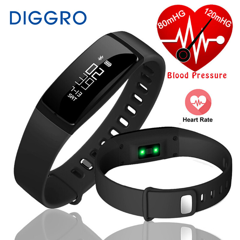 imágenes para V07 Banda Inteligente Podómetro Pulsera Inteligente de La Presión Arterial Monitor de Ritmo Cardíaco Smartband de Fitness Bluetooth Para Android IOS Teléfono