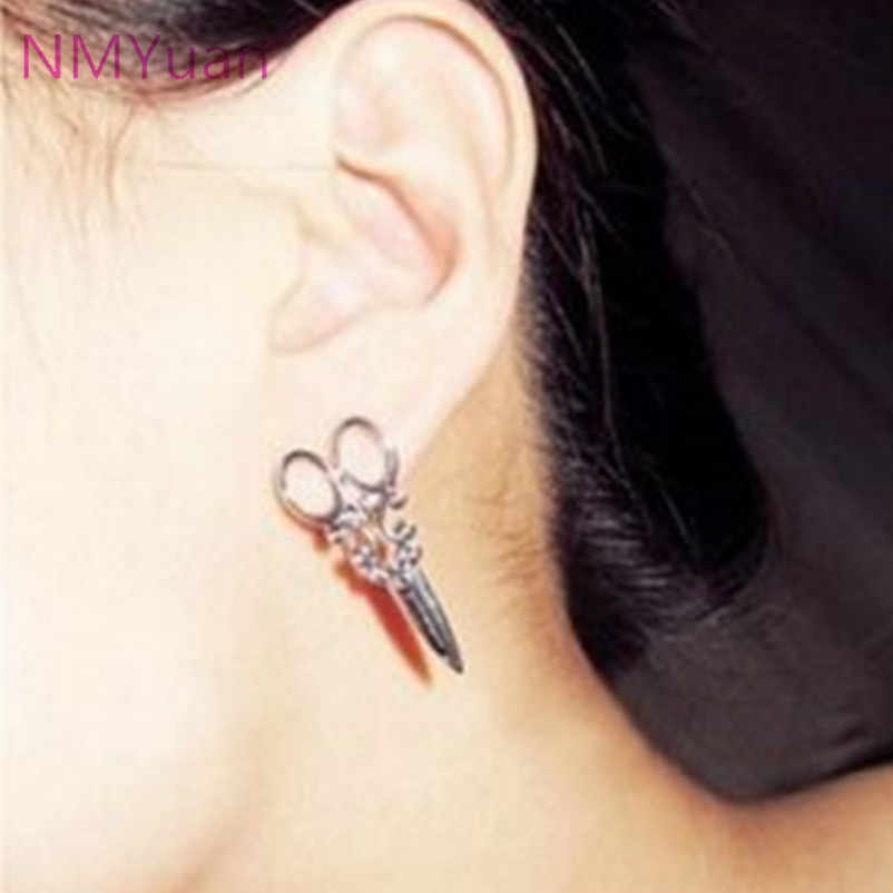Retro fashion personality earrings female small scissors - factory price - selling jewelry trading