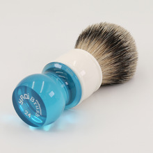 Yaqi 24mm Aqua Highmountain Silvertip Badger Brocha de afeitar para el cabello