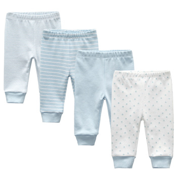 3/4PCS/LOT baby leggings Solid striped 3-12M Newborn Baby Pants Summer Cotton Infant boys Pants Unisex Baby Gril Trousers 2