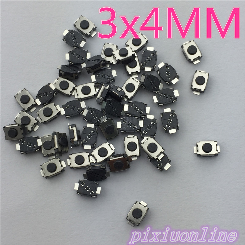 G74Y High Quality 50pcs/lot SMT 3x4MM 2PIN Tactile Tact Push Button Micro Switch G74 Self-reset Momentary Hot Sale 2017 50pcs lot smt 3x4x2 5mm 4pin tactile tact push button micro switch g75 self reset car remote control switch free shipping