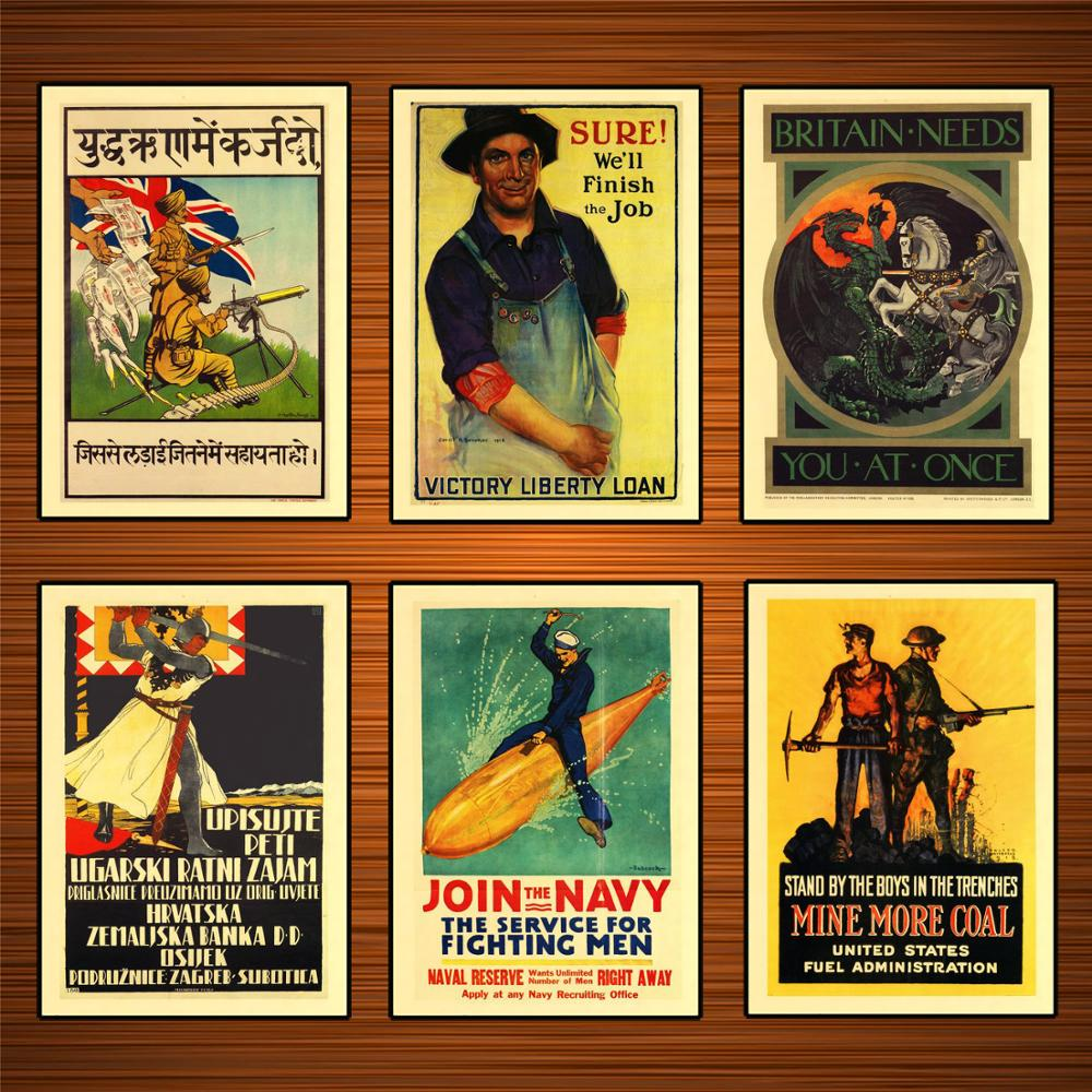 Vintage Advertising Ww1 Poster Buy War Loan Bonds India Classic Canvas Paintings Vintage Wall Posters Stickers Home Decor Gift Painting Calligraphy Aliexpress