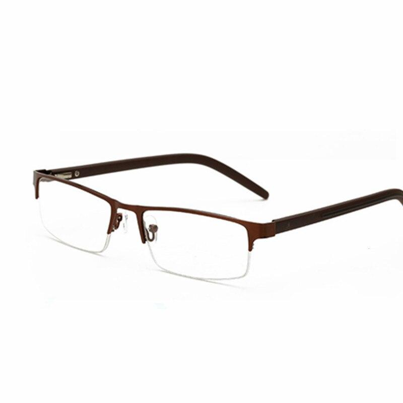 6f0d14053d44 Brand High-end Business light Reading Glasses Men Stainless Steel 55 reading  Glasses 1.0+