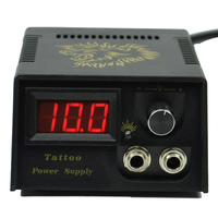 LCD יציקה השחור הדיגיטלי קעקוע Power Supply מכונת זהב האריה עיצוב
